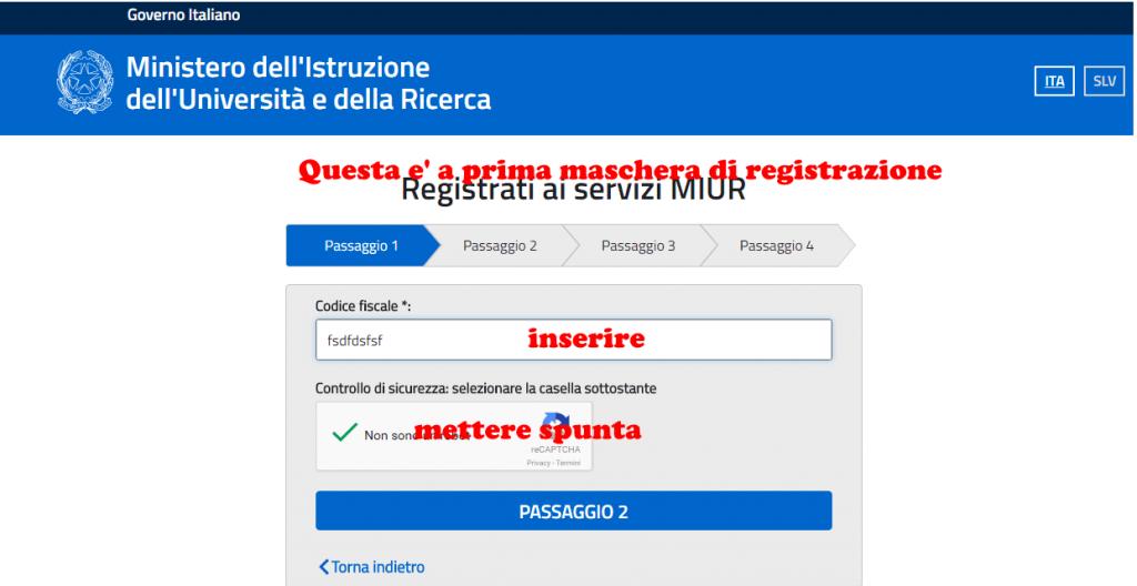 registrazione scuola online