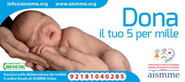 Consiglioweb appoggia AISMME dona il 5 per mille