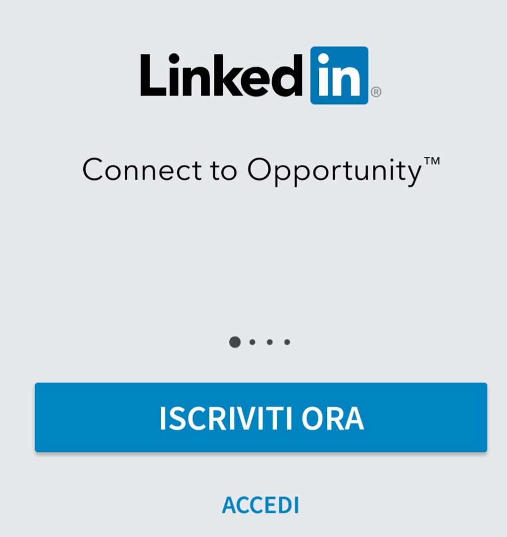 linkedin accedi linkedin app accedi a linkedin da cellulare