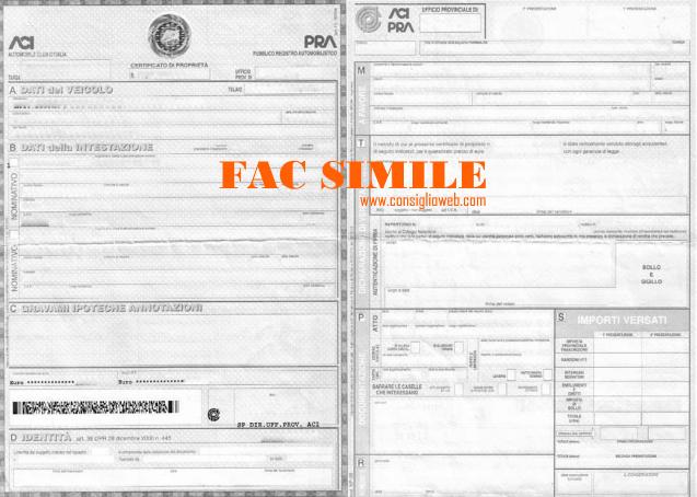 certificato di proprieta' auto digitale cdp cdpd - certificato di proprieta' digitale