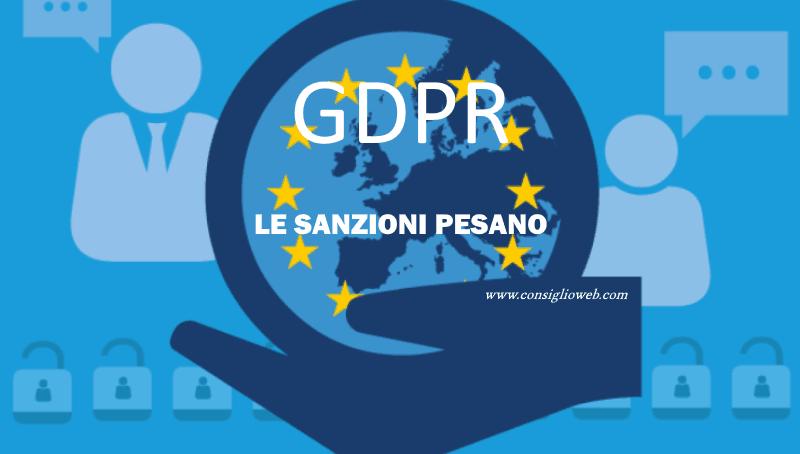 GDPR sanzioni - GDPR privacy sanzioni penali - sanzioni amministrative