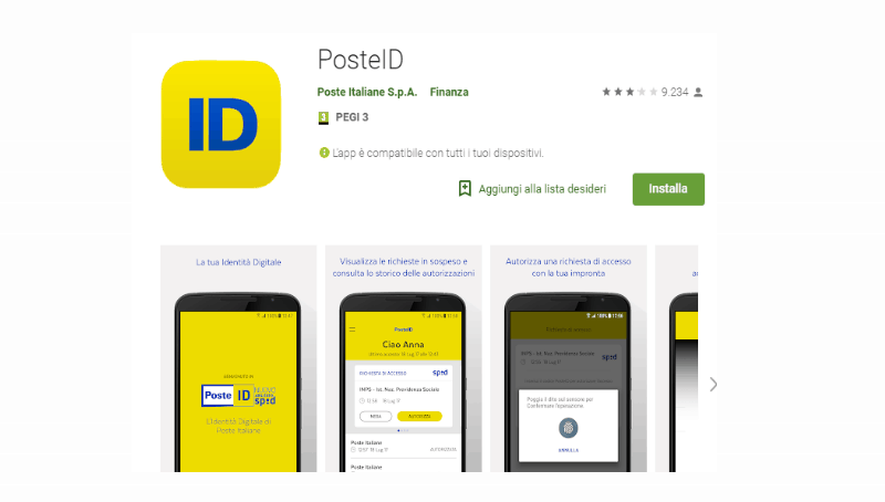 Posteid - identita' digitale - SPID - Poste Italiane Spa