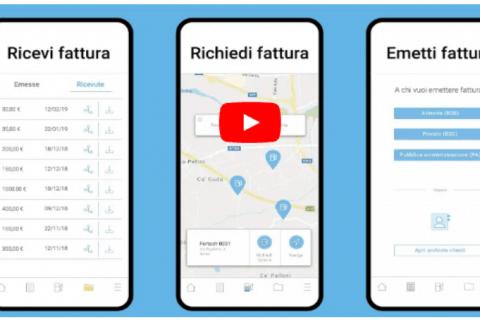 Fattura elettronica self service carburante - richiedere fattura con app